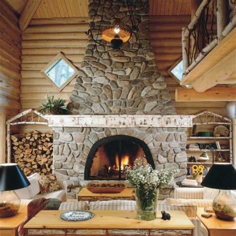 Log Home Fireplaces by The Fireplace
