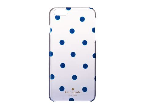 Katee Spadee 4in kate spade new york glitter dot clear ombre resin phone
