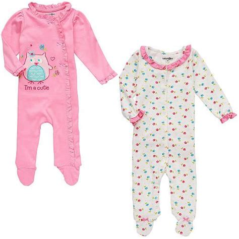 babies r us clothes babies r us 2 pack footies pink white