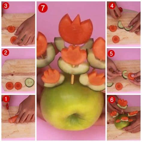 Timbangan Sayuran Dan Buah2an Mini 1 cara membuat garnish dari sayuran dan buah bentuk bunga