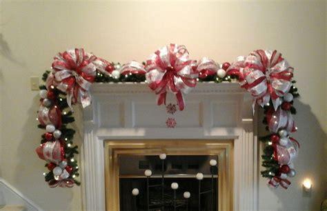 elegant lighted garland fireplace mantel garland lighted swag shipping included silver white