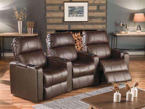 black or brown leather reclining theater sectional home elite leather home theatre seating psr 41952 leather