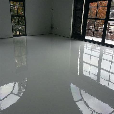 bright white epoxy  urethane floors   installed