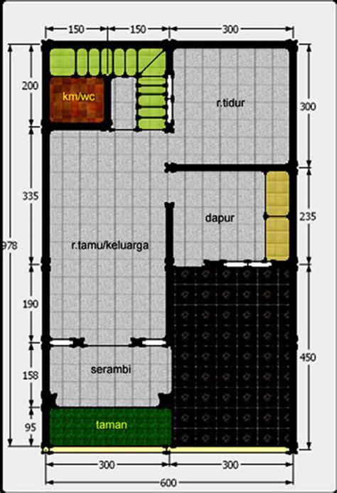 a7 gambar desain rumah 2 lantai untuk kpr type 21 lahan 60 m2