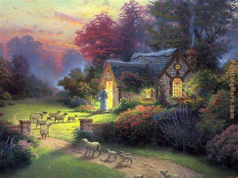 kinkade cottage paintings kinkade the shepherd s cottage painting