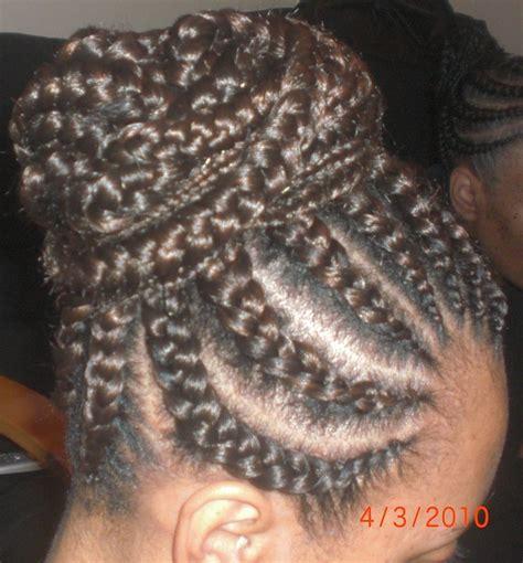 hair with small braids unserneath goddess braids under hand hair pinterest