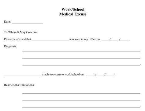 free doctors note template 21 free doctor note excuse templates template lab