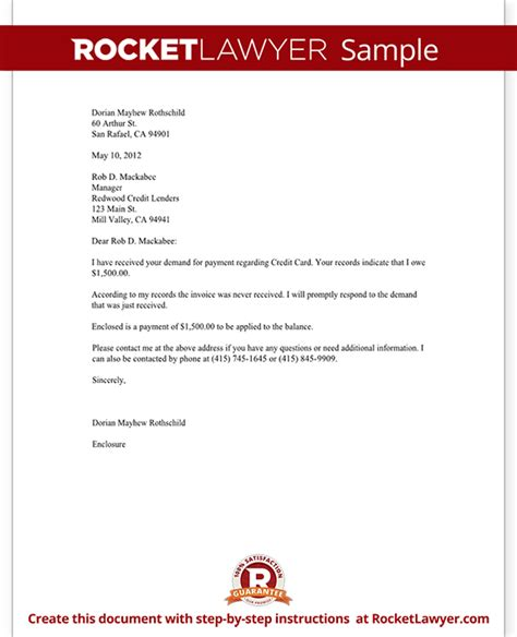 Payment Request Letter Letter To Debt Collector Debt Collector Letter Template With Sle