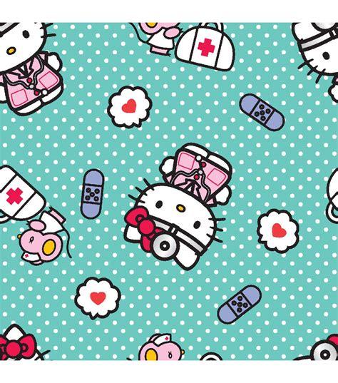 hello kitty nurse wallpaper sanrio nurse hello kitty scrubs cotton fabric jo ann