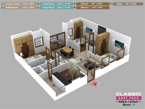 3 bhk house plans 3 bhk house layout plan home deco plans