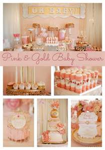pink and gold baby shower ideas omega center org ideas
