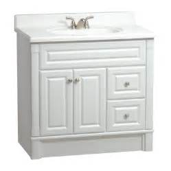 White Vanity At Lowes Shop Estate By Rsi Southport White 36 In Casual Bathroom