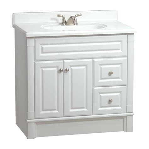 36 White Bathroom Vanity Shop Estate By Rsi Southport White Casual Bathroom Vanity Actual 36 In X 21 In At Lowes