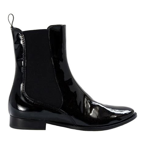 ada black patent leather chelsea versatility boot paolo