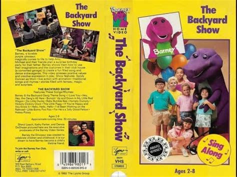Barney Backyard Show by Barney The Backyard Show 1988 1992 Vhs