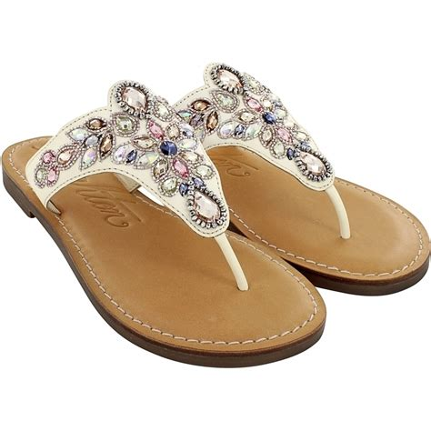 beaded sandal anju ara beaded thongs sandals