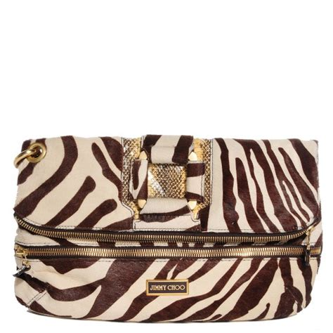 Jimmy Choo Zebra Flat Clutch by Jimmy Choo Zebra Print Pony Hair Marin Clutch Wristlet 94415