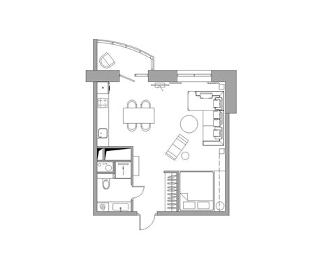 floor plan of a bachelor flat bachelor apartment layout interior design ideas