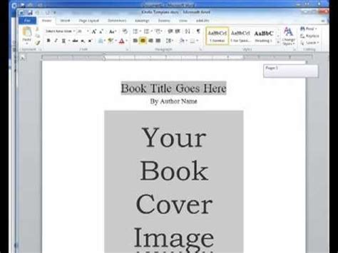 kindle templates for word kindle ebook template youtube