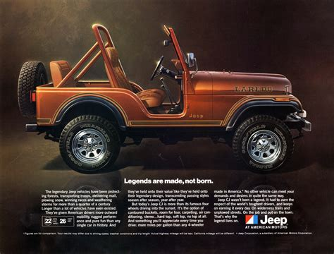 vintage jeep ad jeep 174 heritage 1980 1986 jeep cj 5 laredo the jeep blog