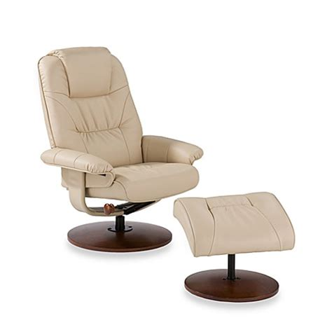 Modern Leather Recliner With Ottoman Buy Modern Leather Recliner And Ottoman Set In Taupe From Bed Bath Beyond