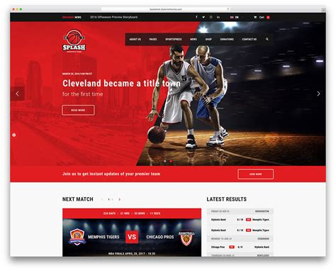 Best Wordpress Sports Themes For Magazines And Sports Teams 2018 Colorlib Best Sports Website Templates