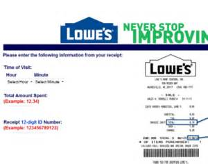 www lowes com survey take lowes survey to share your