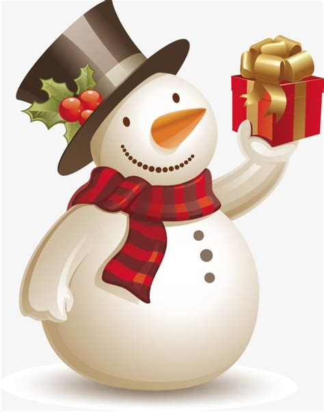 vector snowman gifts snowman clipart vector gift png  vector  transparent background