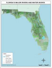 florida river map florida s major rivers and water bodies 2008