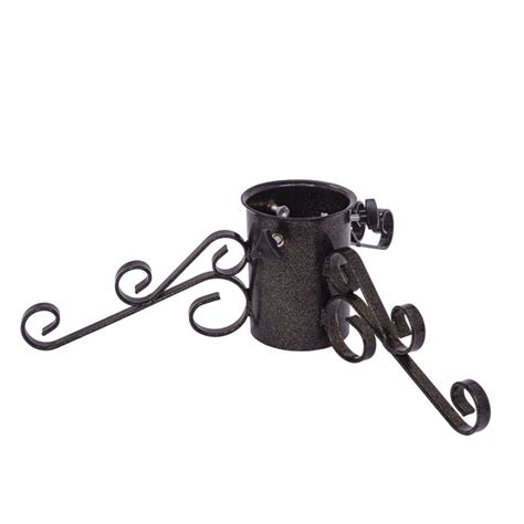 black rod iron christmas tree stand premium 4 5 quot wrought iron stand the cabin