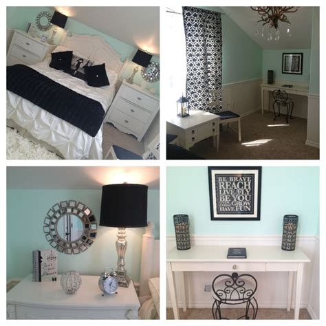 black and white themed room mint bedroom teen girl s bedroom paris theme with silver
