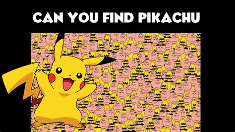 Can See What You Search On Can You Find Pikachu Optical Illusion