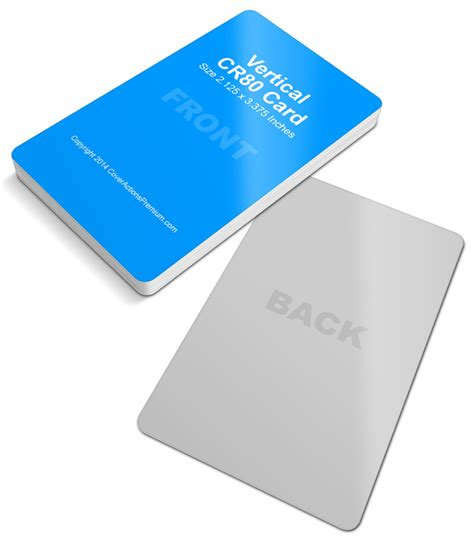Cr80 Card Template by Vertical Cr80 Credit Card Mock Up Cover Actions Premium