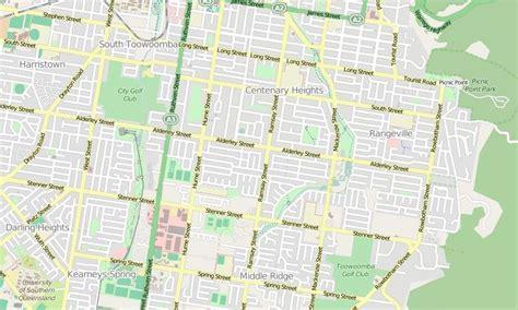 printable map toowoomba toowoomba golf club middle ridge wikiwand