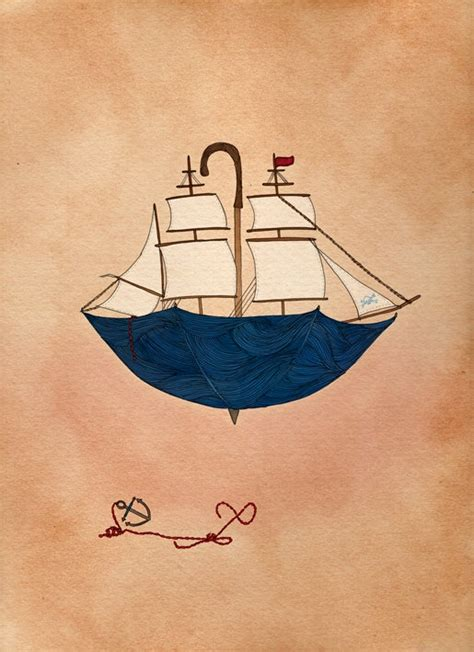 boat illustration drawing nautical print a4 print sailor boat illustration