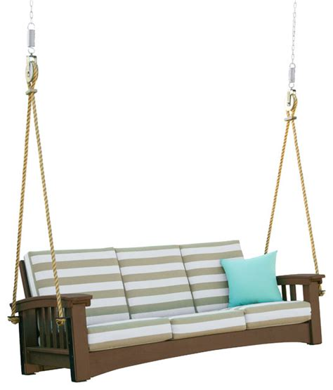 mission porch swing days end cypress mission sofa rope swing craftsman