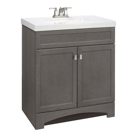 36 Inch Bathroom Vanity Lowes 36 Inch Bathroom Vanity Lowes Style Selections Drayden Gray Integrated Single Sink Bathroom