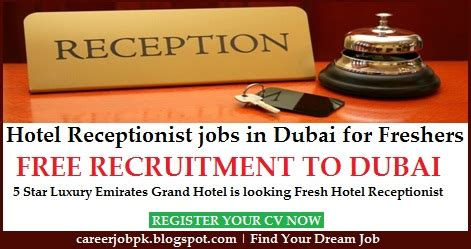 In Abu Dhabi For Mba Freshers by Hotel Receptionist In Dubai For Freshers