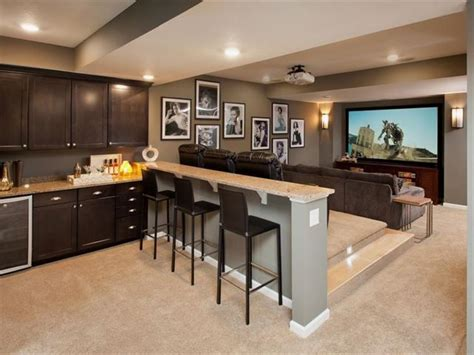 media rooms with small bar basement media room with kitchenette home design