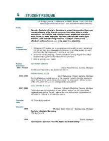 Sample Resume Templates For College Students Sample Of College Student Resume