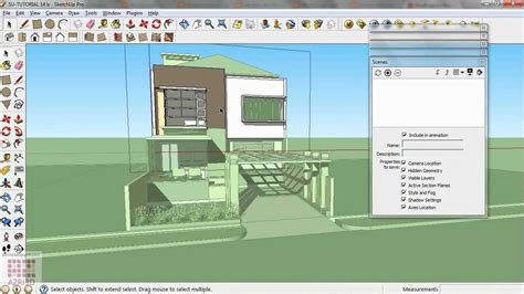 tutorial para usar google sketchup 8 google sketchup tutorial 14 cool section animation youtube
