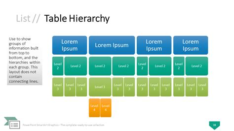 Powerpoint Smartart Graphics The Complete Collection Powerpoint Hierarchy Template