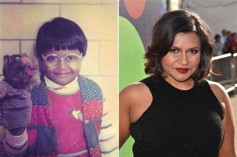 mindy kaling now mindy kaling then and now awkward celebs who grew up to