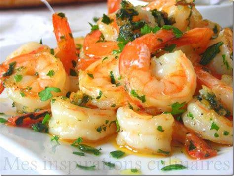 comment cuisiner des crevettes crevettes saut 233 es ail persil 192 d 233 couvrir