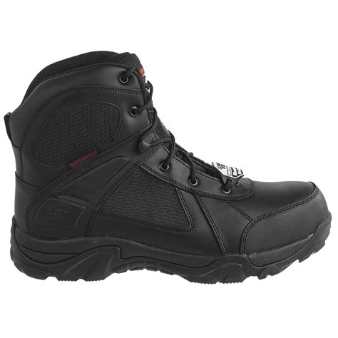 skechers relaxed fit grahn steel toe work boots for