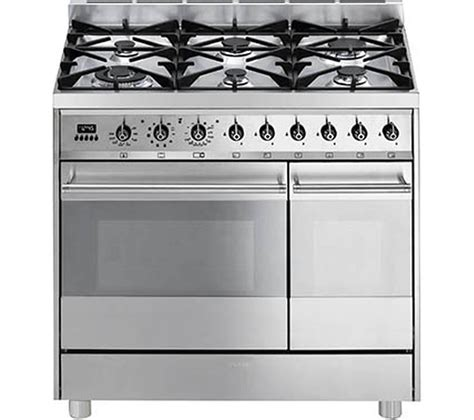 Smeg Kitchen Appliances Review by Buy Smeg C92gpx8 90 Cm Dual Fuel Range Cooker Stainless