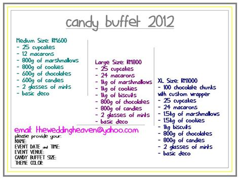 wedding buffet prices the wedding heaven buffet new price items