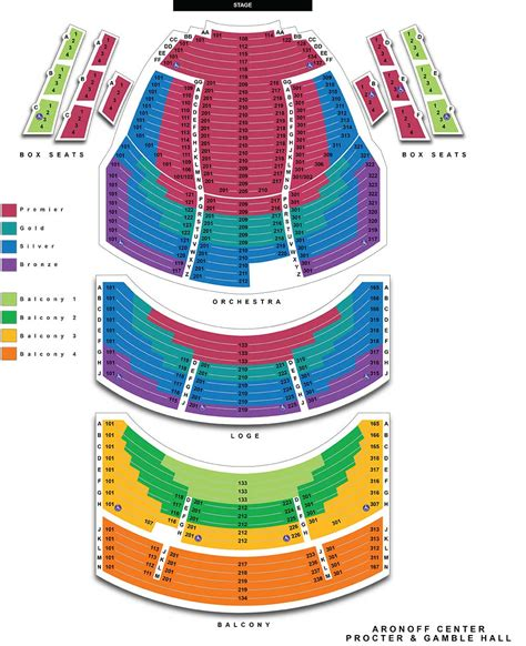 aronoff seating chart aronoff center for the arts