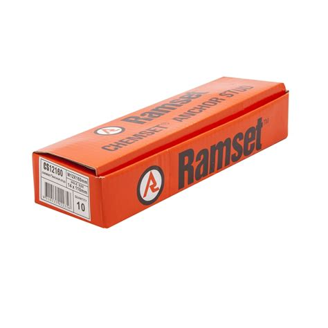 Chemical Ramset ramset m12 x 160mm chemset anchor stud 10 pack bunnings warehouse