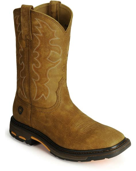 boots work ariat s workhog square toe work boots boot barn